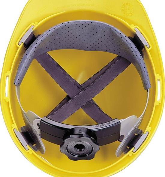 Fas-Trac 10153385 4-Point, Ratchet Hard Hat Suspension, Plastic/Nylon/Metal Clips