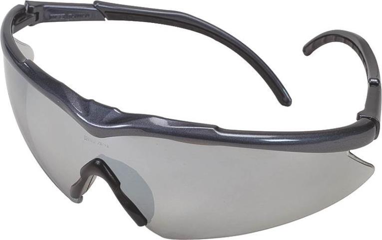 MSA Safety 10083093 Essential Euro Adjust 1149 Safety Glasses, Black Frame