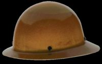 Skull Guard 475407 Heavy Duty Hard Hat, 6-1/2 - 8 in, Non-Slotted, Full Brim, Polyethylene