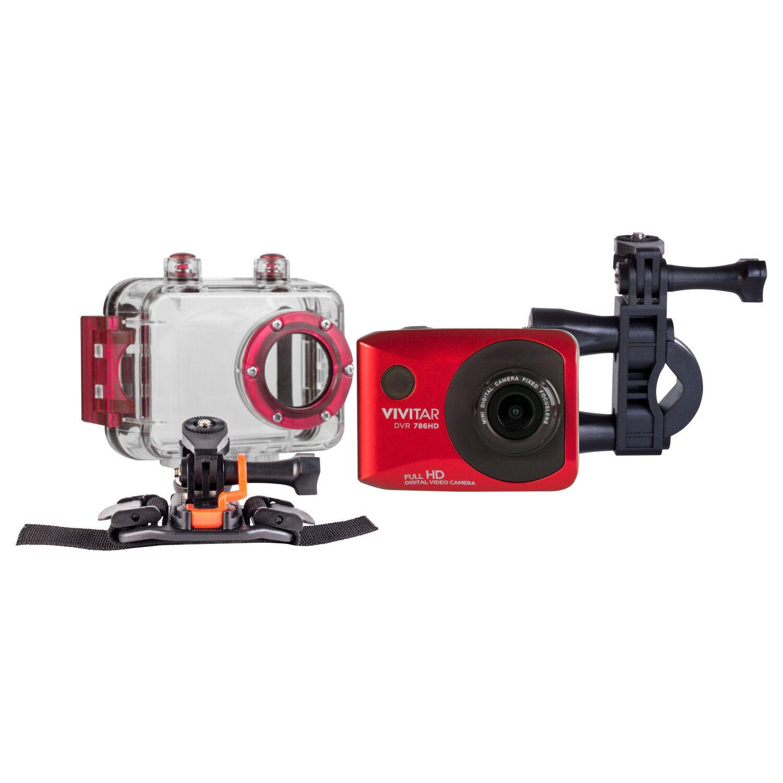 VIVITAR DVR786HD-RED-WM 12.1MP FULL HD WATERPROOF CAMERA