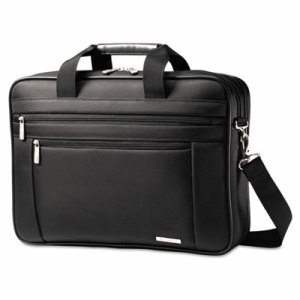 Classic Perfect Fit Laptop Case, 16 1/2 x 4 1/2 x 12, Nylon, Black