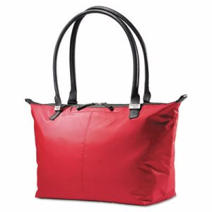 Jordyn Ladies Laptop Bag, 21 1/4 x 7 1/2 x 12, Nylon Red