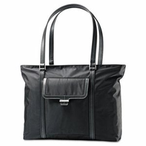 Ultima 2 Ladies Laptop Bag, 12 3/4 x 4 1/2 x 18 1/2, Nylon Twill, Black