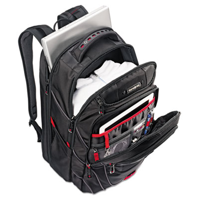 Tectonic PFT Backpack, 13 x 9 x 19, Black/Red