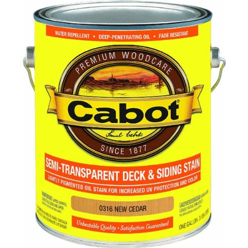 1 Gallon New Cedar Semi-Transparent Stain