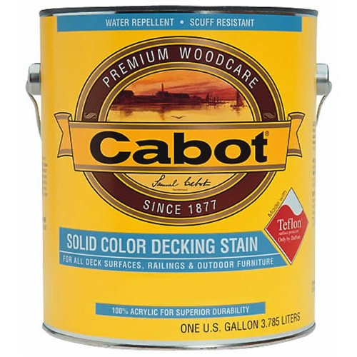 Medium Base Solid Deck Stain, 1 Gallon, Acrylic