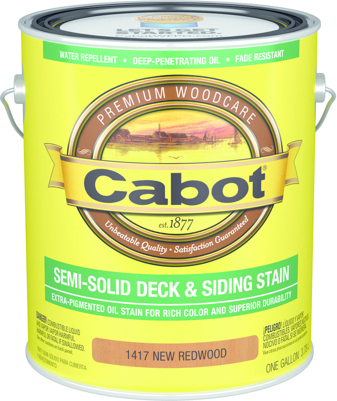 New Redwood Deck Stain, 1 Gallon,  Oil Base