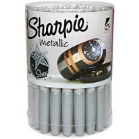 Sharpie 9597 Permanent Marker, Silver, Fine, Liquid