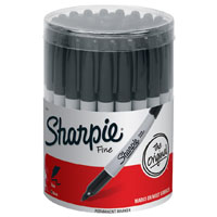 Sharpie 35010 Permanent Marker, Black, Fine, Liquid