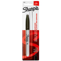 Sharpie 30101 Permanent Marker, Black, Fine, Liquid