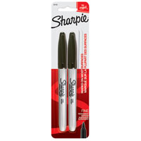 Sharpie 30162 Permanent Marker, Black, Fine, Liquid