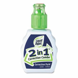 2-In-1 Correction Combo, 22 ml Bottle, White