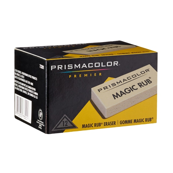 MAGIC RUB Art Eraser, Vinyl, Dozen