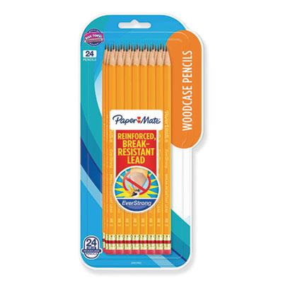EverStrong #2 Pencils, HB (#2), Black Lead, Gold Barrel, Dozen