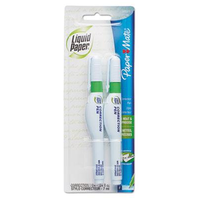 Correction Pen, 7 ml, White, 2/Pack