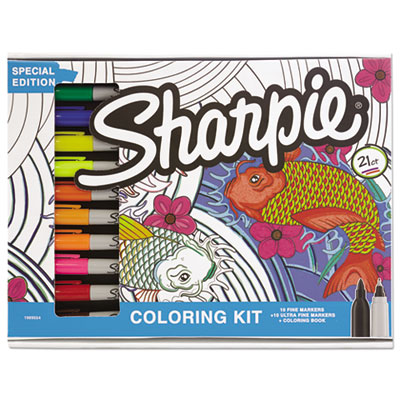 Adult Coloring Kit, Aquatic Theme Coloring Book with 20 Markers