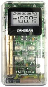 SANGEAN DT-120 WHITE Pocket AM/FM Digital Radios (White)
