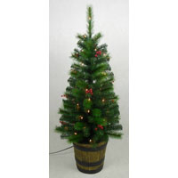 TREE 4FT IN WHISKEY BARREL