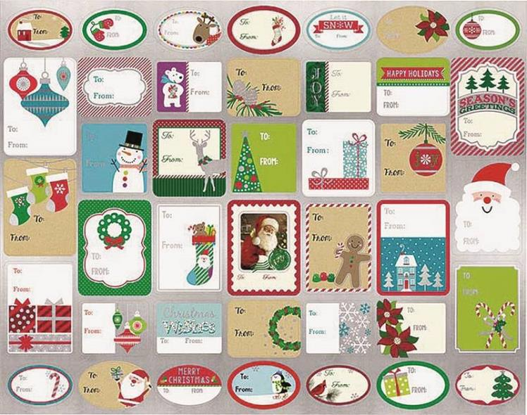 GIFT TAG 120CT STICKY 40DESIGN