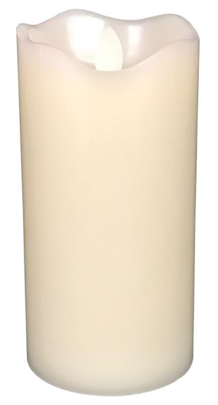 CANDLE D/F WHITE PLASTIC 7IN