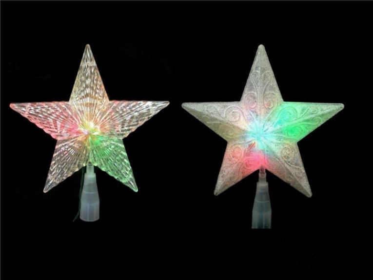 STARS 5POINT COLOR CHG LED 8IN