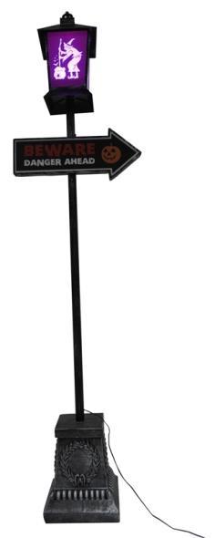 LAMP POST BEWRE/DANGR HLWN 6FT