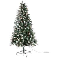 SPRUCE FROSTED PRELIT CLR 3FT