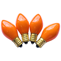 BULBS REPL C7 CERMC ORANGE 4PK