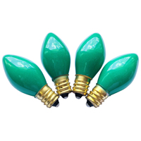BULBS REPL C7 CERA GREEN 4PK