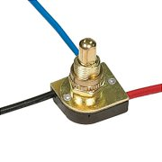 6 Brass FIN 3 Way Push Switch