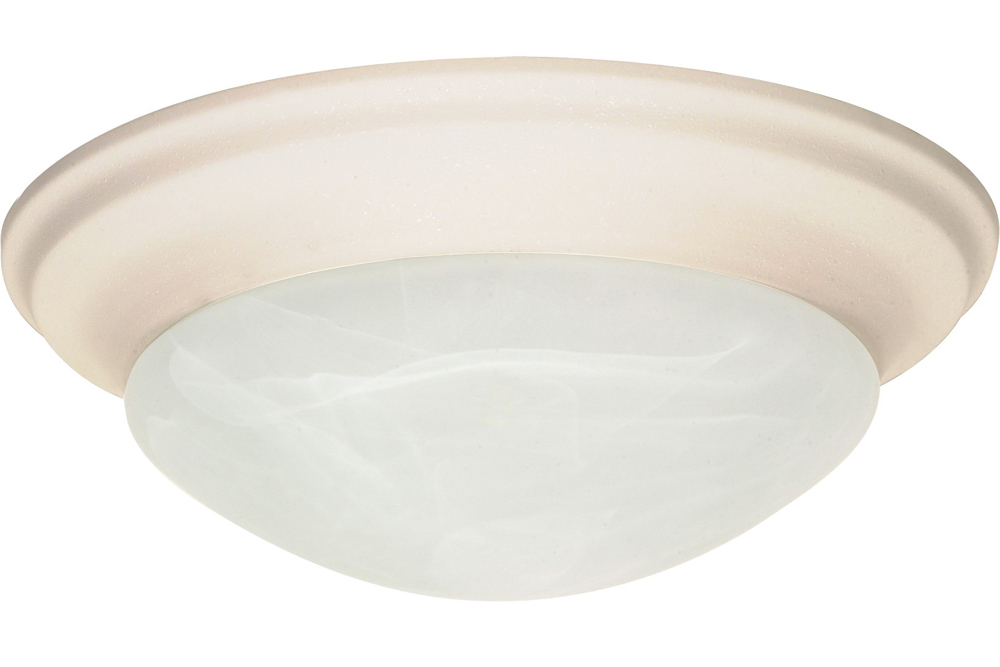 FLUSH MOUNT FIXTURE ONE LIGHT 12 IN. TEXTURED WHITE INCANDESCENT