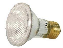 SATCO HALOGEN FLOOD LAMP PAR20, 39 WATT, 120 VOLT, MEDIUM BASE, CLEAR, NSP 10