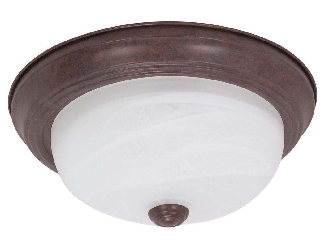 "Decorative 13.25"" 2 Lights Ceiling Fixture, Incandescent Medium Base, Oil Rubbed Bronze"
