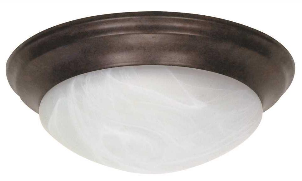 "Decorative 14"" 2 Lights Ceiling Fixture, Incandescent Medium Base, Oil Rubbed Bronze"