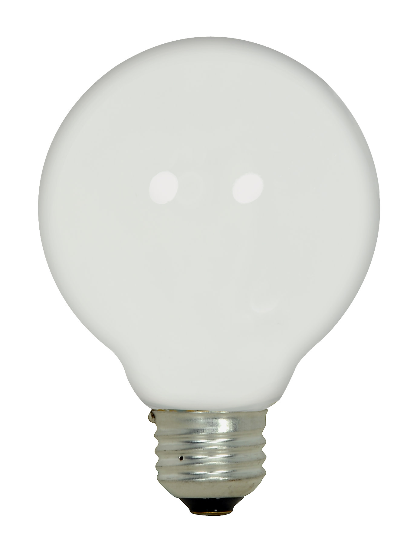 SATCO HALOGEN LAMP, G25 GLOBE, 43 WATTS, 120 VOLTS, MEDIUM BASE, WHITE, DIMMABLE, 3 PER PACK