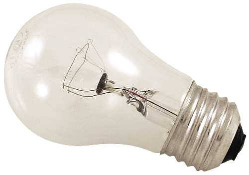 SATCO INCANDESCENT APPLIANCE LAMP A15, 40 WATT, 130 VOLT, MEDIUM BASE, CLEAR, 2,500 AVERAGE RATED HOURS,