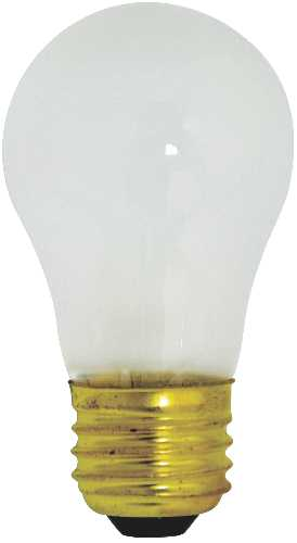 SATCO INCANDESCENT APPLIANCE LAMP A15, 40 WATT, 130 VOLT, MEDIUM BASE, FROST, 2,500 AVERAGE RATED HOURS,