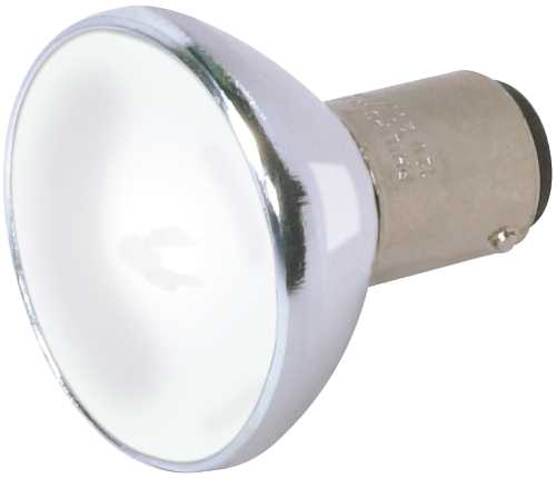 Satco Halogen Flood Lamp ALR12, 20 Watts, 12 Volts, Dc Bay Base, Frosted