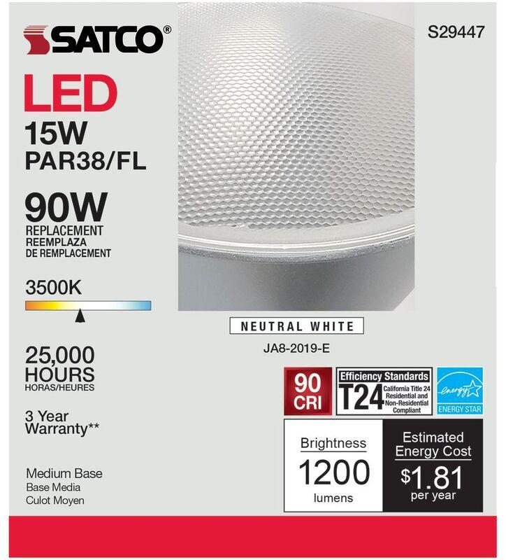 S29447 15W PAR38 3.5K LED BULB