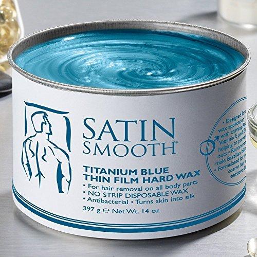 SATIN SMOOTH SSW14MPG TITANIUM BLUE THIN FILM HARD WAX