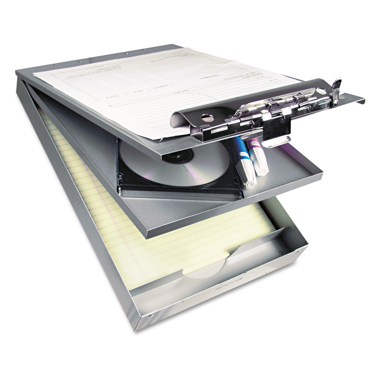 """Cruiser Mate Aluminum Storage Clipboard, 1 1/2"""" Clip Cap, 8 1/2 x 12, Silver"""