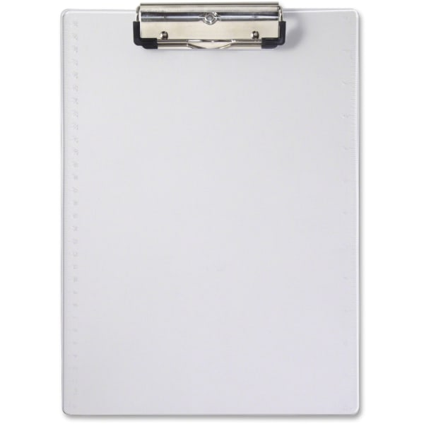 "Acrylic Clipboard, 1/2"" Capacity, Holds 8-1/2w x 12h, Clear"