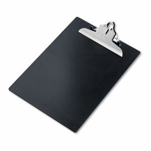 "Recycled Plastic Clipboards, 1"" Clip Cap, 8 1/2 x 12 Sheets, Black"