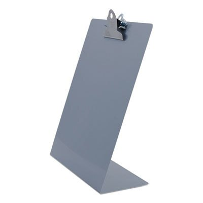 """Free Standing Clipboard, Portrait, 1"""" Clip Capacity, 8.5 x 11 Sheets, Silver"""