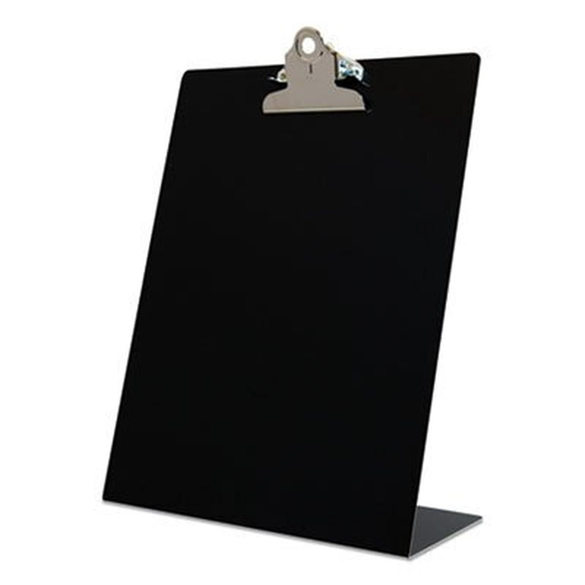 "Free Standing Clipboard, Portrait, 1"" Clip Capacity, 8.5 x 11 Sheets, Black"