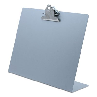 """Free Standing Clipboard, Landscape, 1"""" Clip Capacity, 11 x 8.5 Sheets, Silver"""