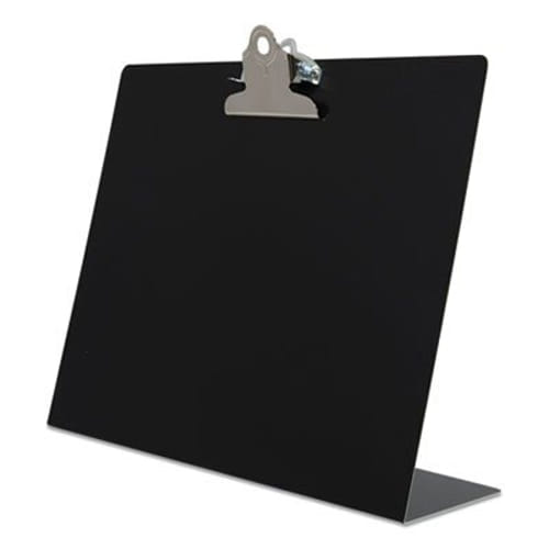 """Free Standing Clipboard, Landscape, 1"""" Clip Capacity, 11 x 8.5 Sheets, Black"""