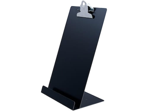 """Free Standing Clipboard and Tablet Stand, 1"""" Clip Capacity, Holds 6.5 x 11, Black"""