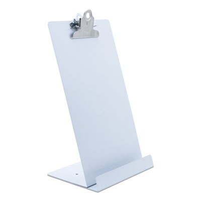 """Free Standing Clipboard and Tablet Stand, 1"""" Clip Capacity, Holds 6.5 x 11, White"""