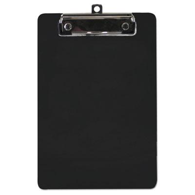"Plastic Clipboard, 1/2"" Capacity, 6 x 9 Sheets, Black"
